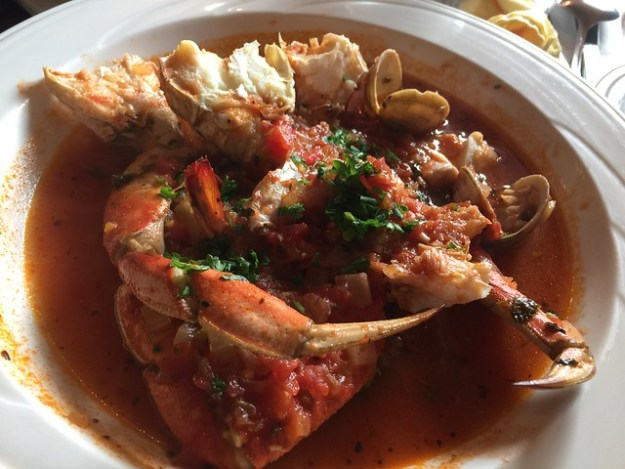 1/2 order of cioppino at Duarte's Tavern