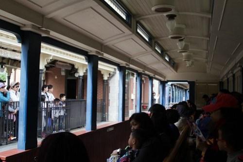 Departing Main Street station on the Hong Kong Disneyland Railroad
