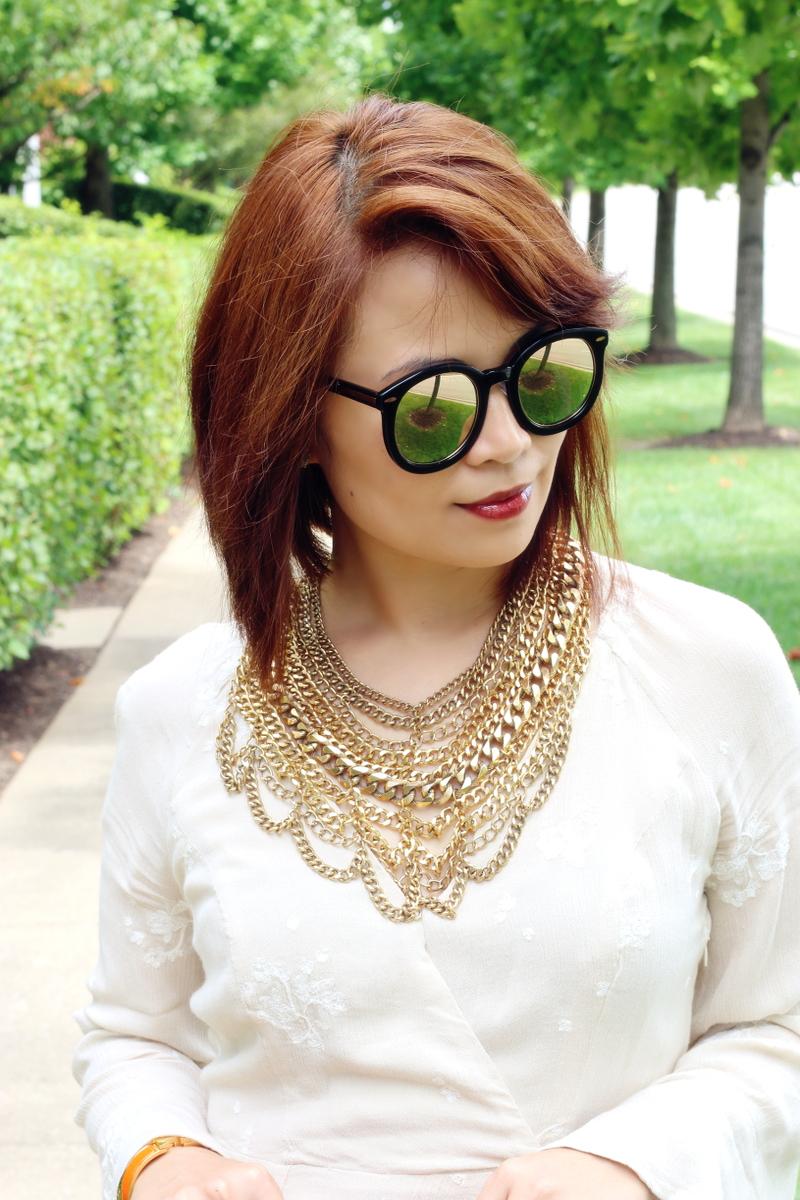 short-hair-gold-chain-necklace-dark-lip-karen-walker-sunglasses-3