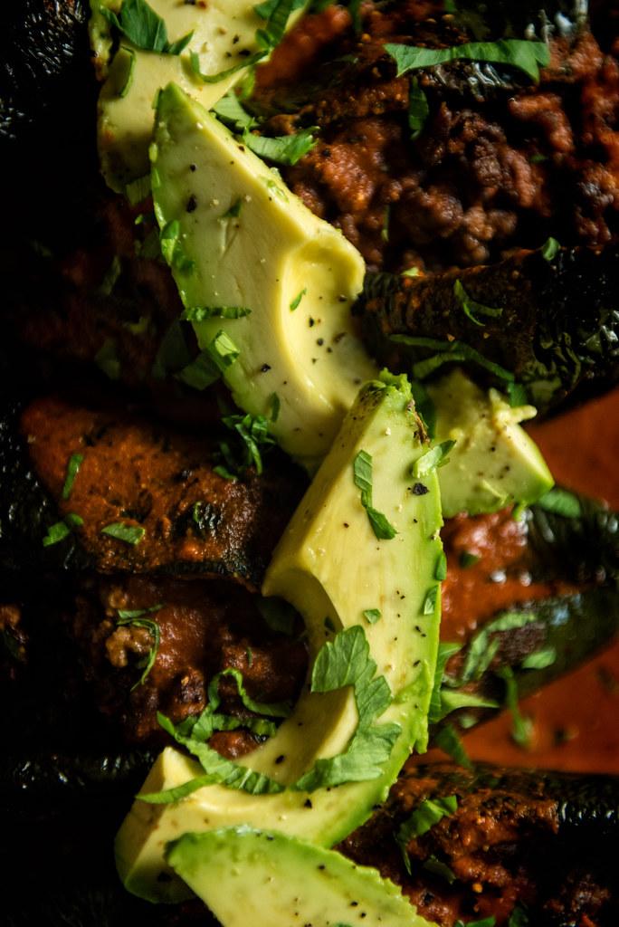 Smoked Enchilada Stuffed Pablanos {Girl Carnivore}