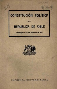 Portada Constitución de 1925