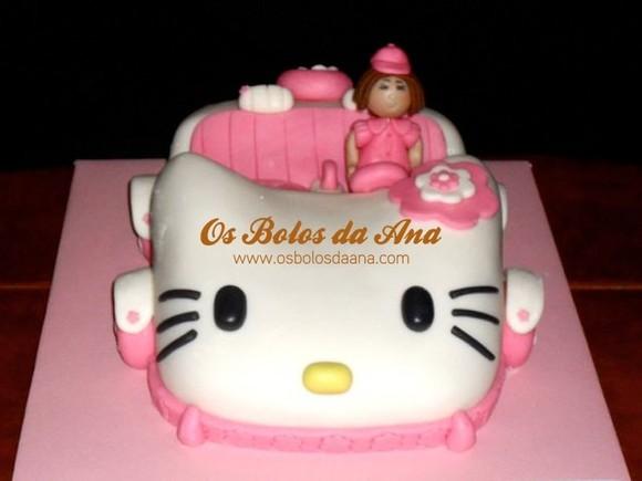 Bolo Carro Hello Kitty . Hello Kity Car Cake