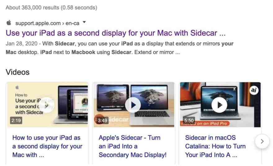 google search apple ipad sidecar