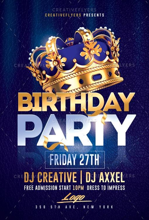 Birthday Party Flyer Psd Templates Creative Flyers