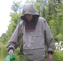 Watering the Garden in an Elite Bugshirt