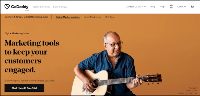 GoDaddy Digital Marketing Suite landing page