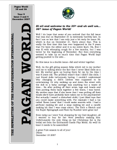 Pagan World 2007