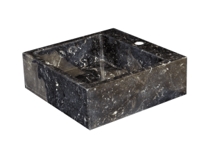 Lavabo de Mármol modelo AM20 en color negro marquina