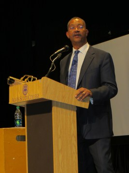 John Franklin, National Museum for African American History and Culture, during his keynote address.