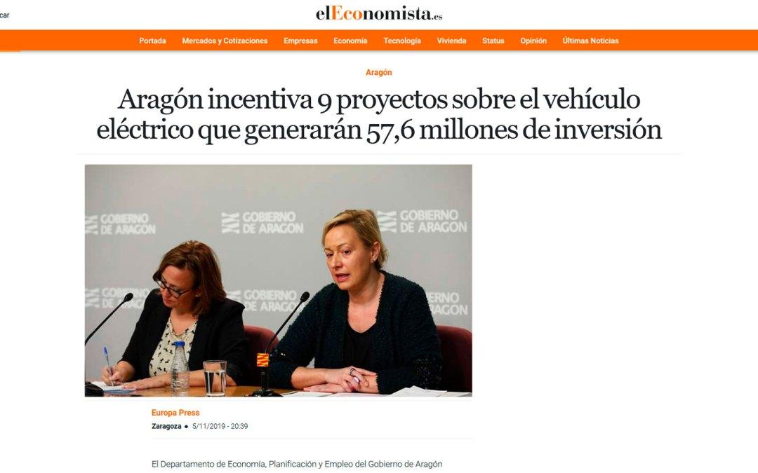 Aragón incentiva 9 proyectos sobre el vehículo eléctrico que generarán 57,6 millones de inversión