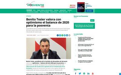 Benito Tesier valora con optimismo el balance de 2020 para la posventa
