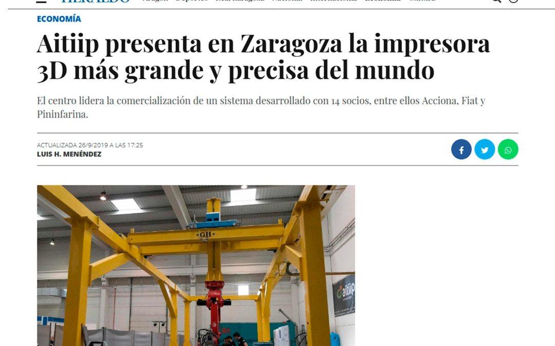 Aitiip presenta en Zaragoza la impresora 3D más grande y precisa del mundo