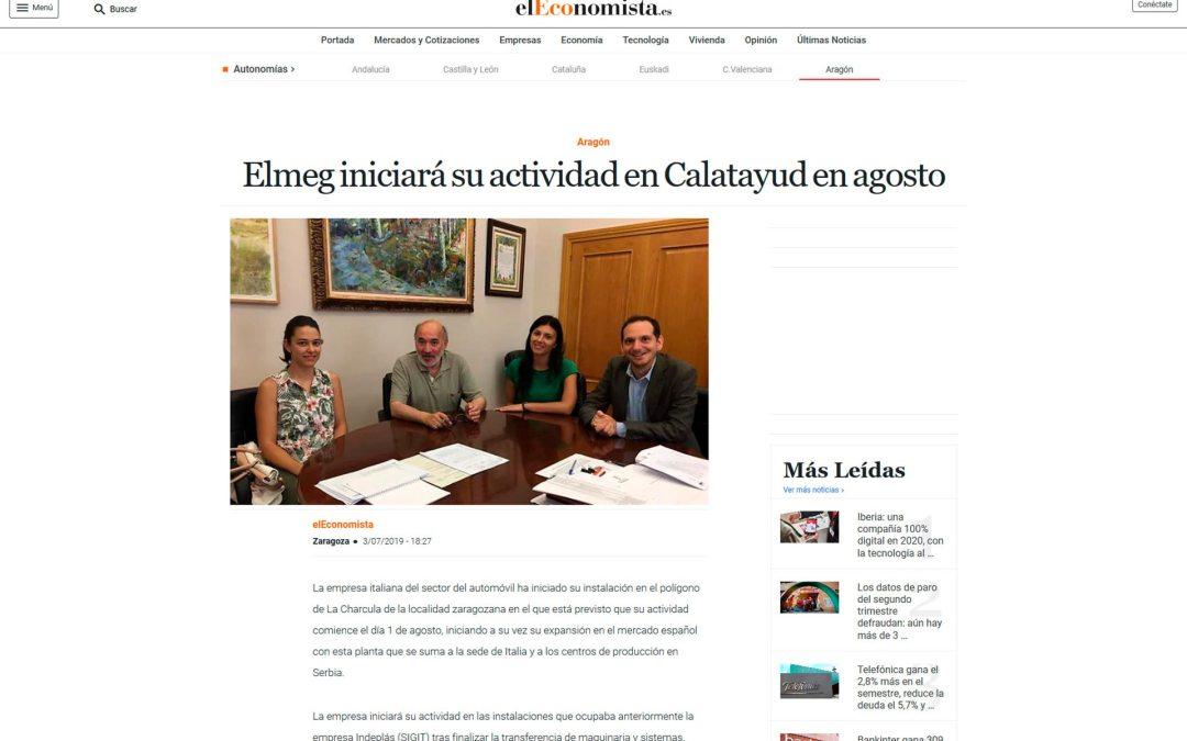 Nueva empresa en Calatayud: Elmeg iniciará su actividad en agosto