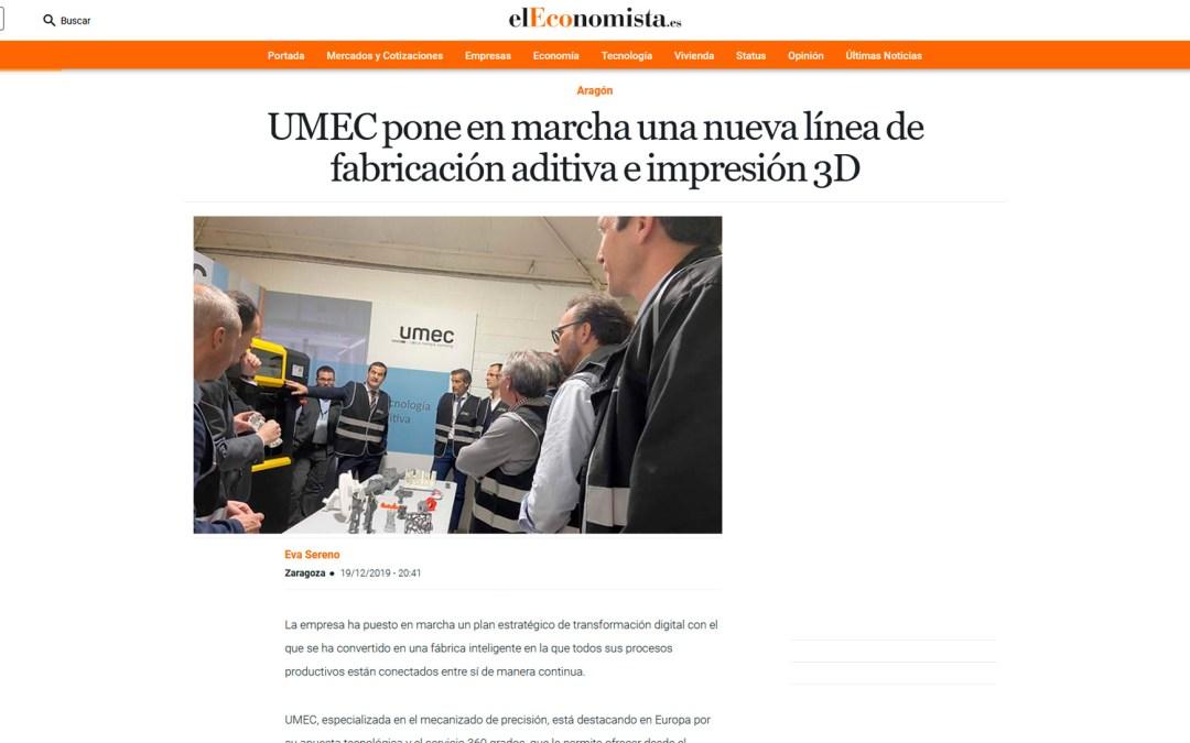 UMEC pone en marcha una nueva línea de fabricación aditiva e impresión 3D