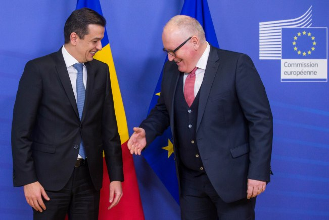 Romanian Prime Minister Sorin Grindeanu in Brussels