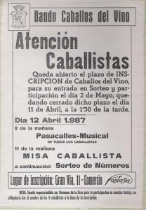 cartel misa caballista