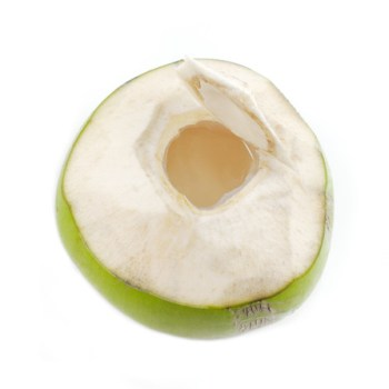 fresh coconut water in the shell
