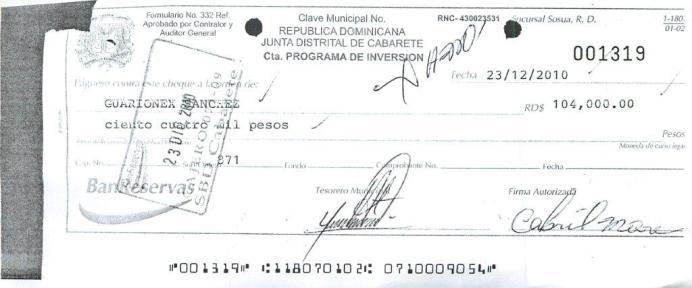 7 cheque rafael mora