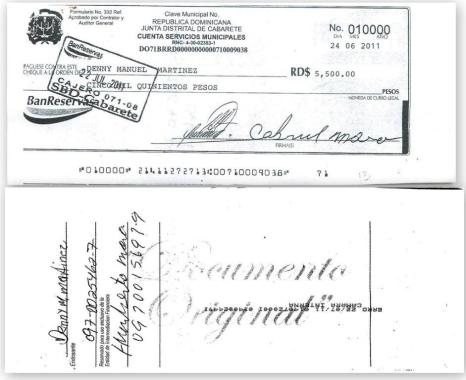 cheques denny manuel martinez
