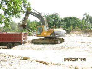 pala de la grancera dualma a dentro del rio Veragua