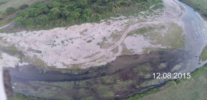 mina del diablo localizada en el rio Yasica cerca de Cuesta Baroza