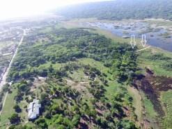 Terreno del proyecto Seawinds localizado a la orilla del parque nacional Cabarete y Laguna