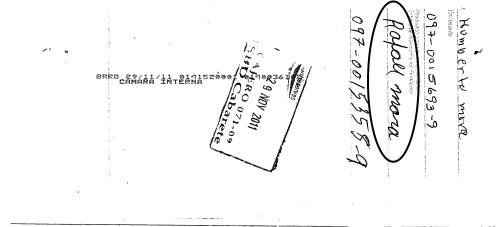 Cheque de pago de interes del prestamo cambiado por Rafael Mora, hermano de Canoa