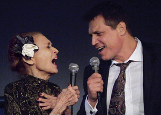 At a 2013 Tribute to Julie, she shared a duet with her son Holt McCallany. Photo: Maryann Lopinto