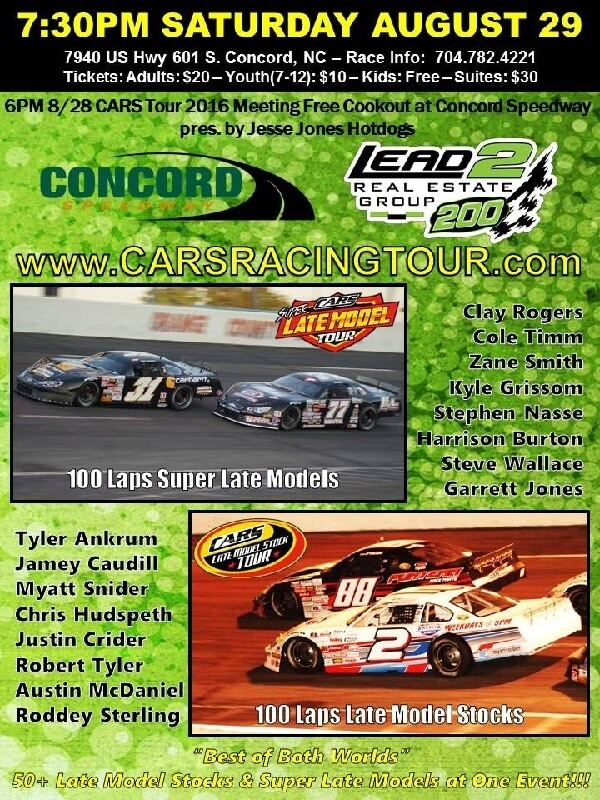 Racing returns to the big track at Concord