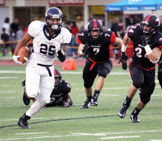 Senior running back Cary Littlejohn (Columbus, N.C./Polk Co. HS) ran for a career-high 192 yards - Catawba Sports Information photo.