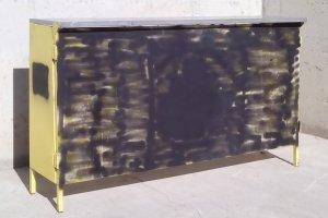Barra metàl·lica plegable 140x42x108cm