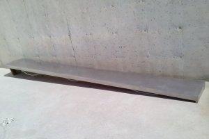 Barra inox de 394x43cm
