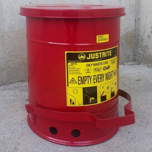 Papelera de seguridad JUSTRITE 20 litros nueva en cabauoportunitats.com