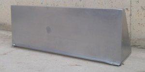 Empostada d'acer inoxidable per a paret de 110x38cm d'ocasió a cabauoportunitats.com Balaguer - Lleida - Catalunya