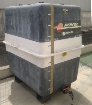 Dipòsit gasoil 2000 litres 180cm d'ocasió a cabauoportunitats.com Balaguer - Lleida - Catalunya