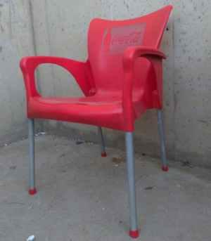 Cadira de terrassa vermella ( 4 uts ) de segona mà a cabauoportunitats.com Balaguer - Lleida - Catalunya