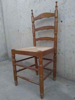 Cadires tornejades de fusta i boga de 40x40cm de segona mà a cabauoportunitats.com Balaguer - Lleida - Catalunya