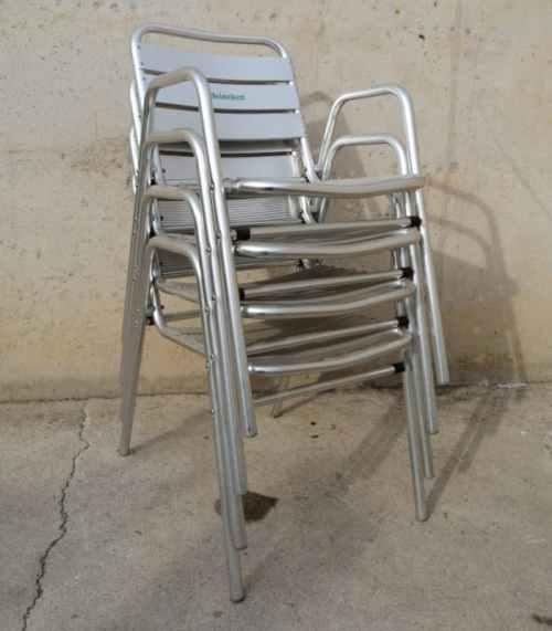 Cadira d'alumini per a terrassa de segona mà a cabauoportunitats.com Balaguer - Lleida - Catalunya