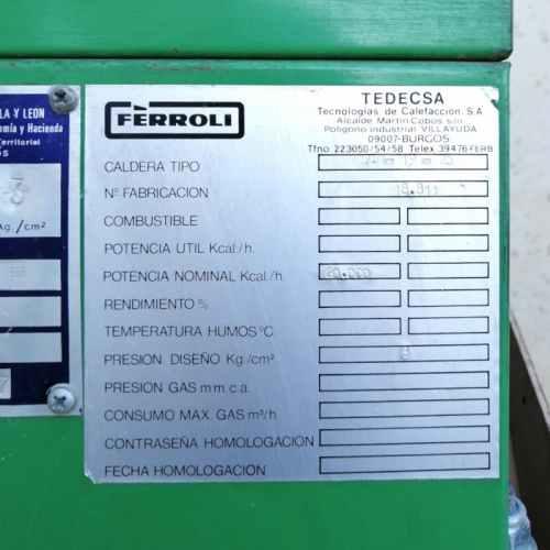 Caldera de llenya FERROLI TL-19 de segona mà a cabauoportunitats.com Balaguer - Lleida - Catalunya
