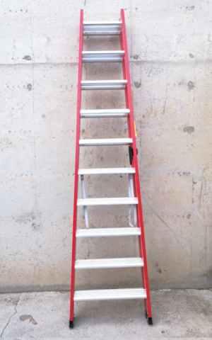 Escalera tijera 260cm de altura de trabajo nueva en cabauoportunitats.com Balaguer - Lleida - Catalunya