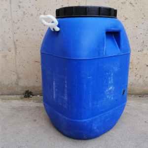 Venda d'un bidó de color blau de segona mà per a olis de reciclatge a cabauoportunitats.com Balaguer - Lleida - Catalunya