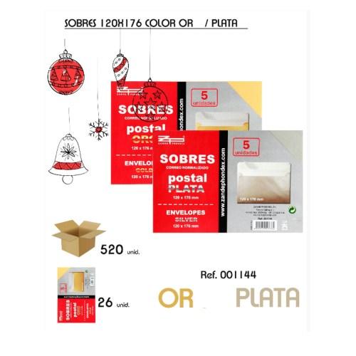 Lot de sobres de color or i plata de 120x176mm nous en venda a cabauoportunitats.com Balaguer - Lleida - Catalunya