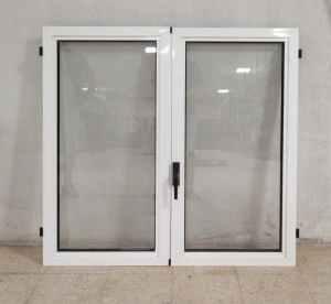 Finestra doble de segona mà feta d'alumini i vidre transparent en venda a cabauoportunitats.com Balaguer - Lleida - Catalunya