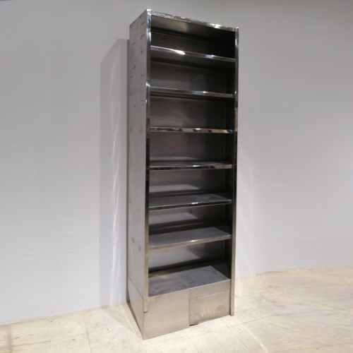 Prestatgeria d'acer inoxidable de 87x35cm de segona mà en venda a cabauoportunitats.com Balaguer - Lleida - Catalunya