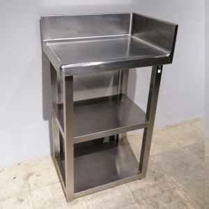 Prestatgeria raconera d'acer inoxidable de 3 prestatges de segona mà en venda a cabauoportunitats.com Balaguer - Lleida - Catalunya
