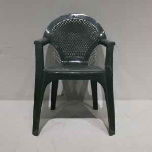Cadira de plàstic de segona mà de color verd en venda a cabauoportunitats.com Balaguer - Lleida - Catalunya
