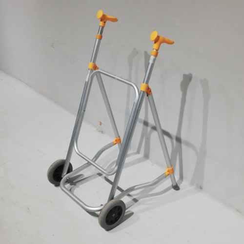 Caminador d'alumini i plàstic groc de segona mà en bon estat a cabauoportunitats.com Balaguer - Lleida - Catalunya