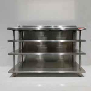 Estantería de inox de 4 estantes de acero inoxidable de 147cm en venta en cabauoportunitats.com