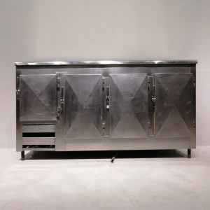 Taula freda d'acer inoxidable de segona mà en venda a cabauoportunitats.com Balaguer - Lleida - Catalunya
