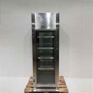 Expositor neutre d'acer inoxidable i vidre de 203cm en venta en cabauoportunitats.com Balaguer - Lleida - Catalunya